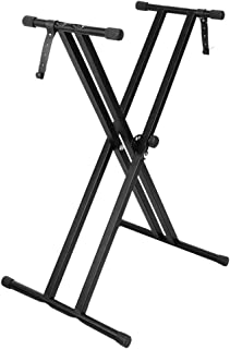 GLEAM Keyboard Stand Double X-Style with Locking Straps