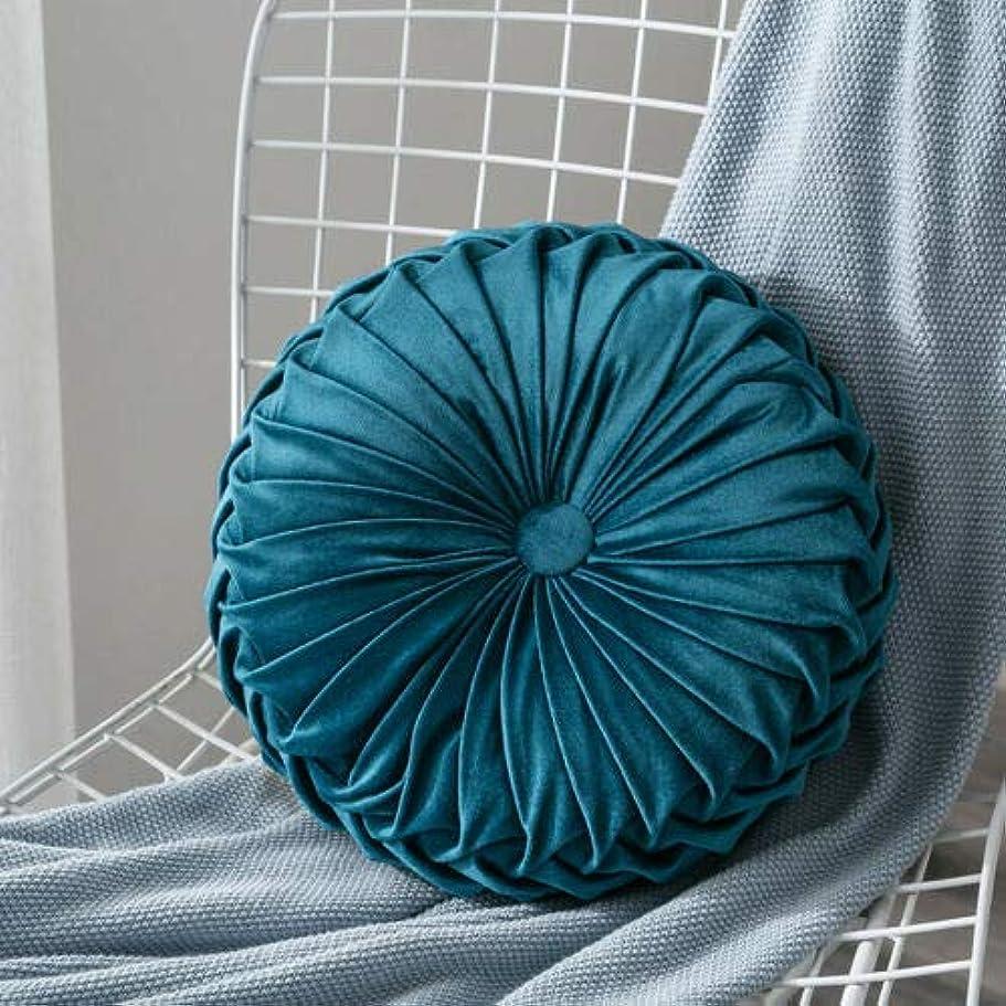 投票スタジアム悪化させるLIFE ベルベットプリーツラウンドカボチャ枕ソファクッション床枕の装飾 クッション 椅子