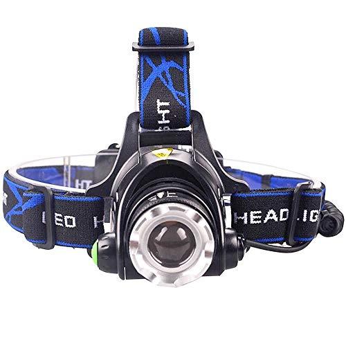 Linterna frontal LED ultrabrillante, faro impermeable, con zoom, 4 modos de iluminación, uso para faro de pesca