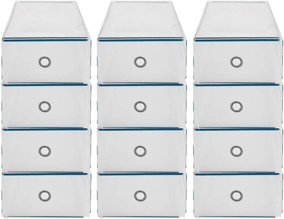 Caja Zapatos Plegable pl/ástico Caja Zapatos apilableCaja Almacenamiento pl/ástico 31 /× 20 /× 11cm Caja Zapatos con caj/ón