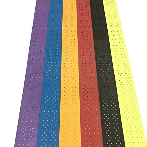 1pcs Tenis Sobregrip Raqueta de bádminton apretón de Sudor Ambiental Banda de arrollamiento for Padel Raqueta caña de Pescar con el Grip Banda de Sudor (Color : Bright Yellow)