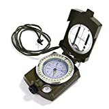 Best Lensatic Compasses - GWHOLE Military Lensatic Sighting Compass Waterproof for Outdoor Review