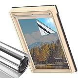 MUHOO 60x200cm Vinilos para Ventanas Efecto Espejo, Lámina de Espejo para Ventanas, Película Adhesiva, Vinilo Ventana Protector Solar Privacidad, Anti 99% UV para Hogar, Oficina