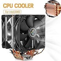 3 Pin 2 Fans 6 Heatpipes CPU Cooler Cooling Fan 12cm Quiet Fan Cooler Heatsink for Intel LGA 1150/1151/1155/1156/1366/775 AMD