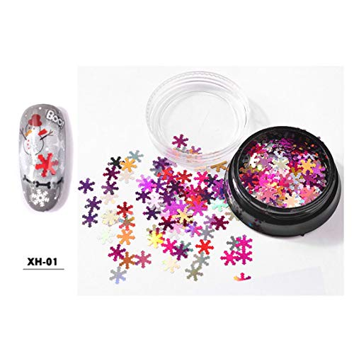 MANZILIN Nail Jewelry Laser Magic White Snowflake Sequins Ultra-mince Sequin