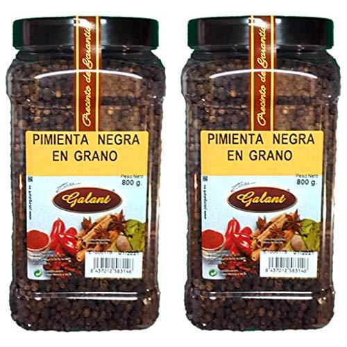 Galant - Pimienta Negra en Grano - Pack de 2 x 800 g