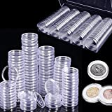 Osuter 100PCS Colección de Monedas Plastico Cápsulas de Monedas con Caja de Almacenamiento para Recolección de Monedas