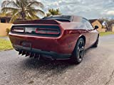 Custom Rear Diffuser 8 Piece Kit V2 Compatible with Dodge Challenger 2015-2021