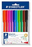Staedtler Triangular Ball Pen (Set Of 10 Colours)