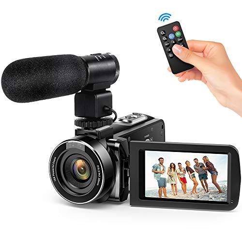 Andoer Video Camera Camcorder, Digital Video Camcorder FHD 1080P Video Camera Infrared Night...