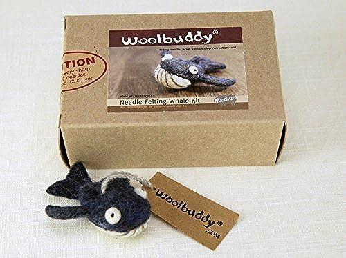 Woolbuddy Needle Felting Whale Kit by Woolbuddy