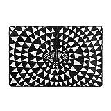 huagu Alfombra de baño,de Luna Africana,Arte Antiguo Tribal,Ilustraciones de Tinta para diseño y página para Colorear,ilustración Vectorial,Alfombra de baño 75cmx45xm