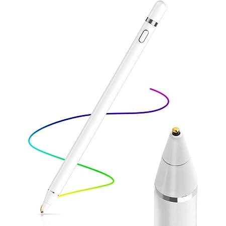 AICase Active Stylus Pen,Penna Capacitiva Attiva, Punta Fine(1.45mm) Active Stylus Stilo Universale per Qualsiasi Touch Screen,10 Ore Continue Work & 30 Giorni di Standby