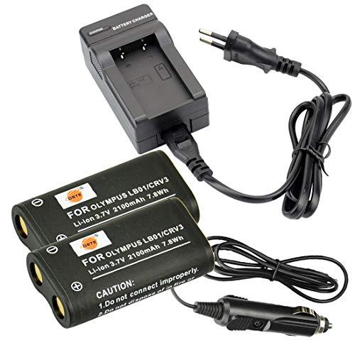 DSTE 2-Pieza Repuesto Batería y DC78E Viaje Cargador kit para Olympus CR-V3 C3000 C3040 40Z C-2100UZ C-211 C-211Z C-3000 C-3030 C-3030Z C-3040 C-3040Z C-4000 C-5050 C-5050Z C-700 C-700UZ C-720