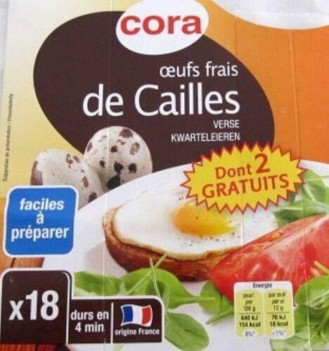 Frische französische Wachteleier 18 Stück 1 Packung, Cora