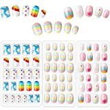 Best Press On Nails - 72 Pieces Kids False Nails Press on Artificial Review