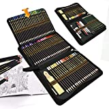 96 lápices de colores Conjunto de Dibujo Artístico,lapiz dibujar y Bosquejo Material de dibujo Set,Incluye lapiz dibujo,carbón,Lápices Pastel,Herramientas de dibujo y capacidad grande Caja de lápiz