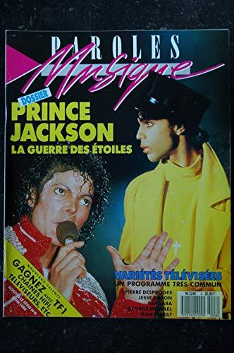 Paroles & Musique n° 8 * 1988 06 * PRINCE JACKSON Pierre DESPROGES NIAGARA JEAN FERRAT NINO FERRER