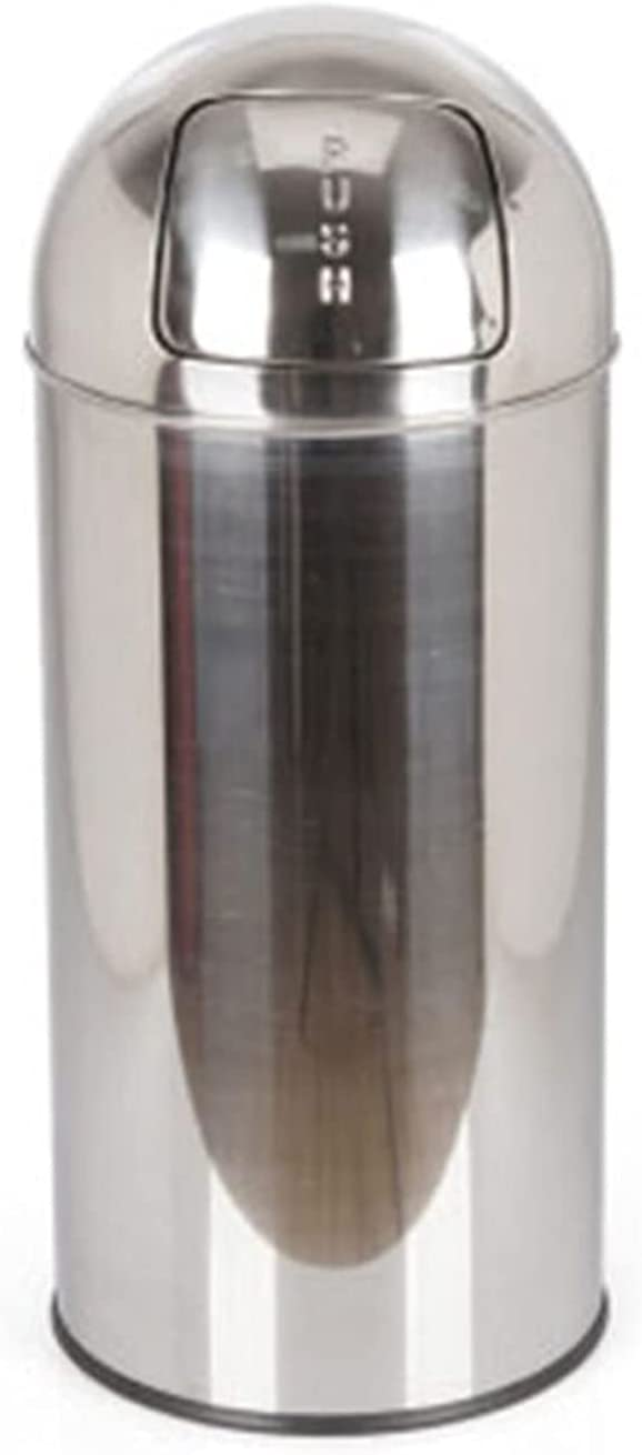 ZHONGTAI Trash Can Max 53% OFF Virginia Beach Mall Cylindrical Lid Outdoor Swing Stain