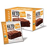 Julian Bakery® Keto Thin® Brownie | USDA Organic | Vegan | Gluten-Free | 3 Net Carbs | 12 Brownies |