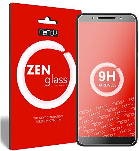 ZenGlass Flexible Glas-Folie kompatibel mit Alcatel 3V Panzerfolie I Bildschirm-Schutzfolie 9H I (Kleiner Als Das Gewölbte Bildschirm)