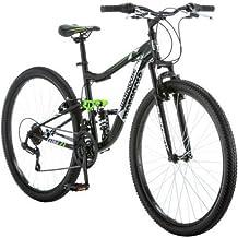 "Mongoose 27.5"" R4054WMC Ledge 2.1 Men`s Bike for a Path, Trail & Mountains,Black, Aluminum Full Suspension Frame, Twist Sh..."