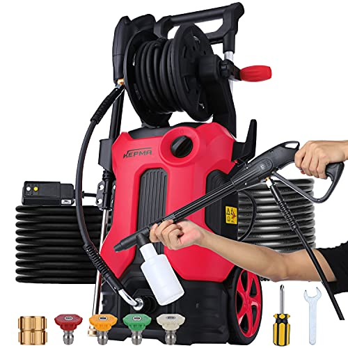 Pressure Washer 3800 PSI 2.8 GPM Electric Power Washer with Hose Reel 2000W Deliver Up to 10000+ Cleaning Units, Foam Cannon and 4 Nozzles for Homes Cars Driveways Patios