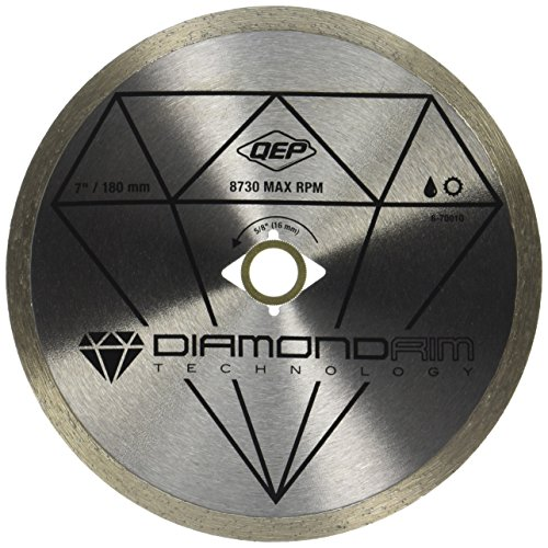 "QEP 6-7001Q 7"" Continuous Rim Diamond Blade For Wet Tile Saws For Ceramic Tile"
