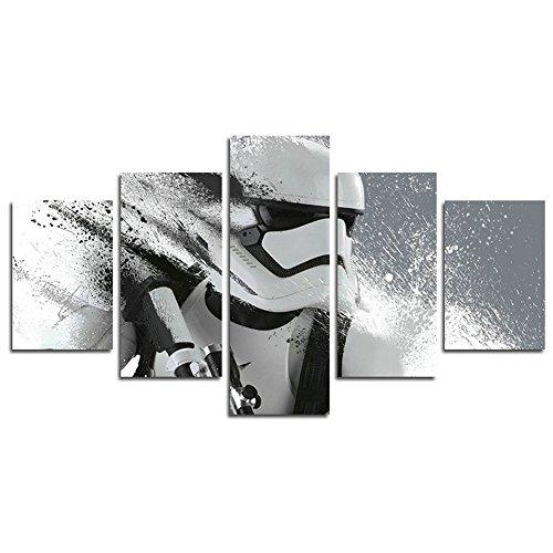 Leyruk 5 Pièce Stormtrooper Star Wars Film Peinture pour Salon décor à la Maison Toile Art Mur Affiche (No Frame) Unframed F34 50inch x30inch