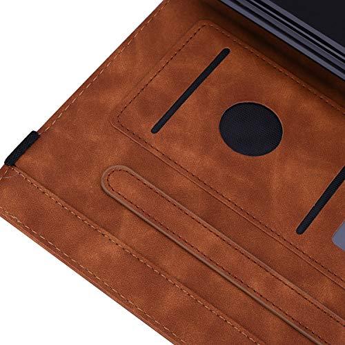 Aswant Lenovo Tab M10 Plus Hülle Mandala Blume Geprägt PU Leder Flip Brieftasche Ständer Taschehülle Kartenschlitz Stifthalter Schutzhülle für Lenovo Tab M10 Plus 10.3 Zoll TB-X606F / TB-X606X - Braun