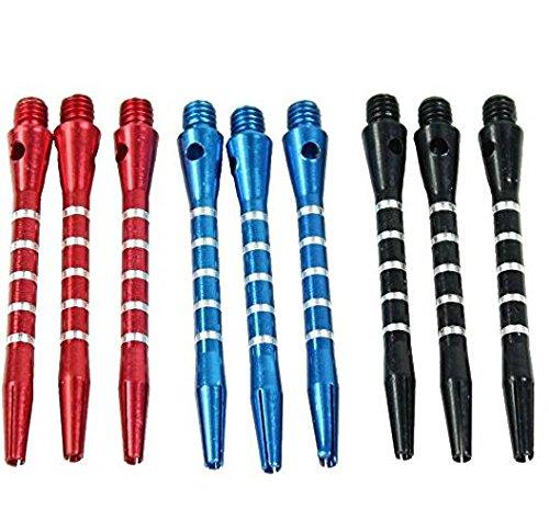 Uni Coco 9Piezas, Aluminio de Dardos shafts Harrows Dart Stems, Juguete, Ultra