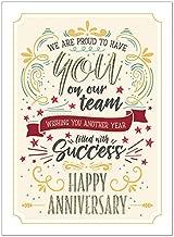 25 Employee Anniversary Cards - Modern Typographic Design - 26 White Envelopes - FSC Mix