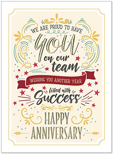 25 Employee Anniversary Cards - Modern Typographic Design