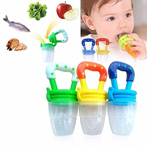 4PCS Food Fresh Fruit Feeder Teether Nibbler Teething Toy Nipple Feeding Baby