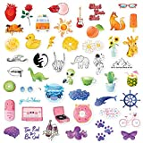 The Carefree Bee - 50 Rainbow Stickers for Water Bottles, Laptops, Hydro Flasks (Series 21)