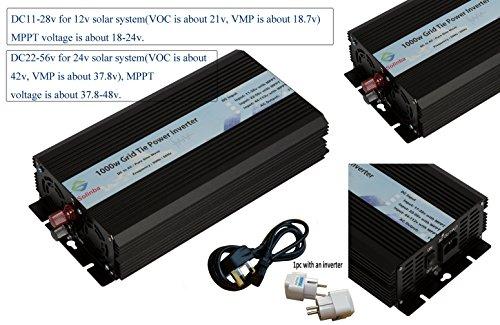 Solinba 1000w Grid Tie Solar Inverter DC22v-56v to AC 220v UK Plug + EU Adapter