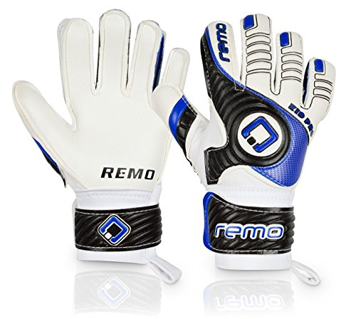 REMO Sports Giganto Junior Pro Latex Torwarthandschuhe (blau, 4)
