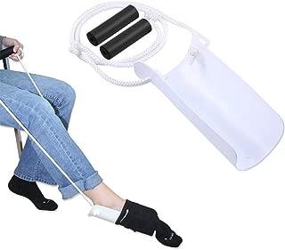 Elderly Men Socks Dressing Assisting Equipment Pregnant Women Avoid Bending Waist Socks Dressing Tools Disabled Elderly Sock Dressing Aid(White and Blue Color Randomly Delivered)
