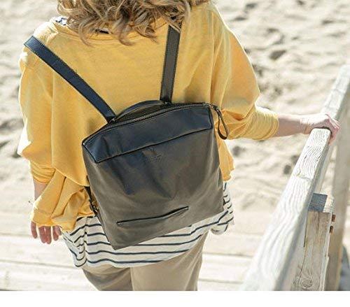 Rucksäcke der Frauen, schwarzer Rucksack, Rucksackreißverschluss, Lederrucksack Frauen