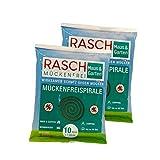 Rasch espiral de mosquitos 2 x 10 piezas - paquete de ahorros - Contra los mosquitos en las zonas exteriores (hasta 80 horas)