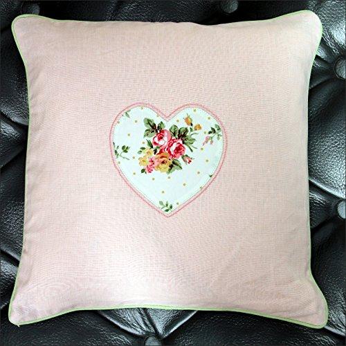 Pretty Maison Cuscino Cuore Rosa Vintage