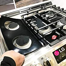 Stove Protector Liners Compatible with LG Stoves, LG Gas Ranges - Customized - Easy Cleaning Liners for LG Compatible Model LRG3193ST