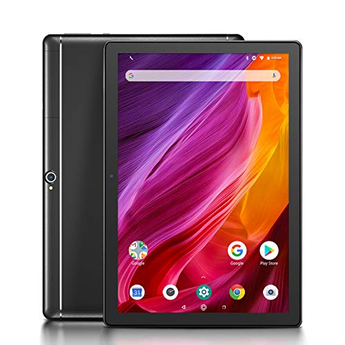 Dragon Touch K10 Tablet Android 8.1, Tablet con processore quad-core da 16 GB con lo schermo IPS HD, Famiglia Tab con micro HDMI, GPS, FM, WiFi 5G, Corpo in Metallo(Nero)