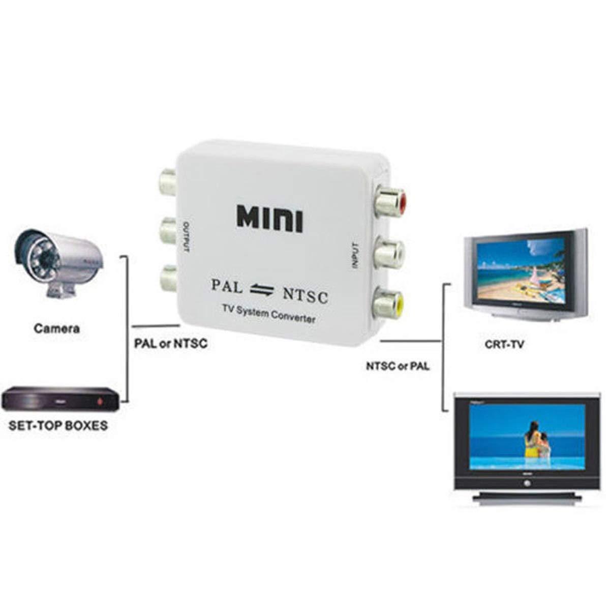 Ruiqas PAL/NTSC/SECAM to PAL/NTSC Mini sistema de TV bidireccional conmutador: Amazon.es: Hogar