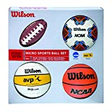 Wilson Micro Sports Set de Mini Pelotas, Unisex, Multicolor, Talla Única