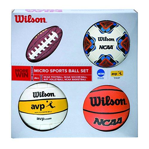 Wilson Micro Sports Set de Mini Pelotas, Unisex, Multicolor, Talla Única