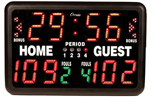 Champion Sports Multi-Sport Tabletop Indoor Electronic Scoreboard with Remote Control Included