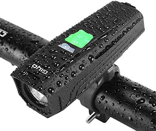 ZHENG Luces Bicicleta Luz de Bicicleta Recargable USB, Faros de Bicicleta for el Jinete de Noche, Deporte al Aire Libre, Negro