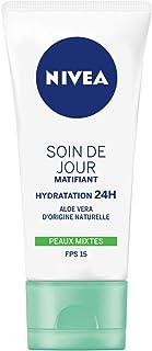 NIVEA Soin de Jour Essentials 24H Hydratation Intense + Matifiant (1 x 50 ml), crème hydratante visage, soin femme & homme...