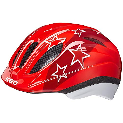 KED Helmet Meggy II Fahrradhelm/E-Bike/Mountainbike/MTB/Jugendliche, Unisex, Red Stars, SM 49-55 cm